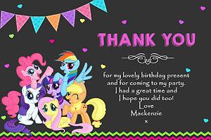 Personalised My Little Pony Birthday Party Invitation inc Envelopes