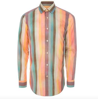 Energisch Paul Smith Shirt Klassische Hemden Bnwt Men's Signature ' Artist Stripe ' Tailored-fit Rrp:£190 Kleidung & Accessoires