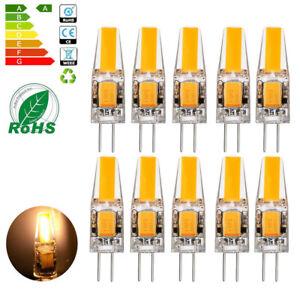 10x g4 led cob 3w lampen stiftsockel leuchtmittel warmwei dimmbar ac dc 12v ebay