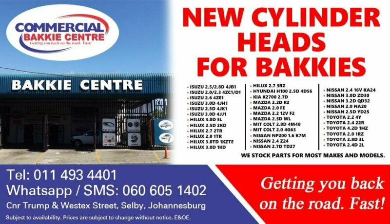 Cylinder Heads For Most Bakkie Makes and Models For Sale
