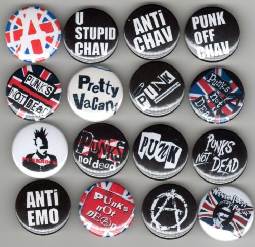 16 Badge Set Punk