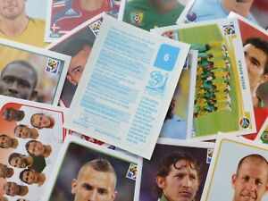 Panini-World-Cup-South-Africa-2010-Stickers-BLUE-Complete-Your-Collection