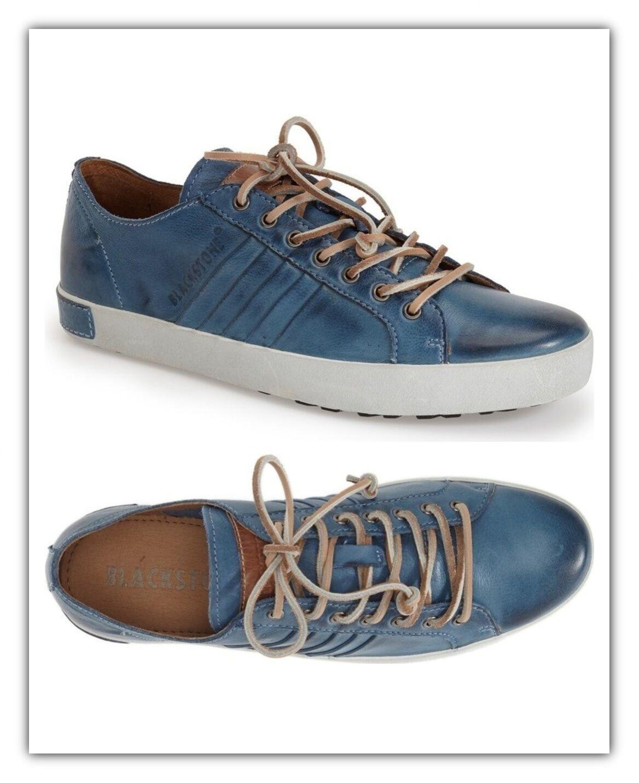 Zapatos Hombres Cuero Zapatillas negrostone JM11 Indigo azul Mocasines Nuevo