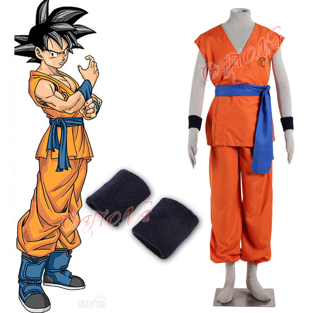 Cafiona New Dragon Ball Z Son Goku Cosplay Costume Kakarotto Uniform Sportswear