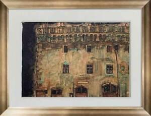 "Egon SCHIELE Lithograph SIGNED #'ed Ltd. Ed. "" Krumau Town-Hall"" 1910 +FRAMING"