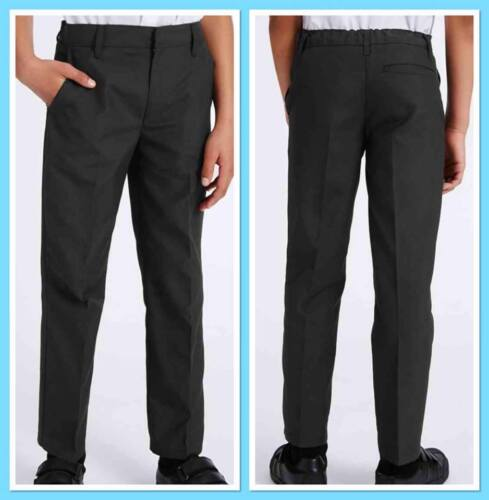 M/&S School 2 Pack Boys Flat Front Trousers Triple Action Stormwear™ NEW T763616G