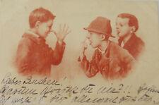 """""""Kinder, Faxen, Zunge raus strecken"""" 1902, Baviere ♥ (5264)"""