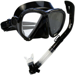 NEW-Scuba-Diving-Matrix-Mask-Dry-Snorkel-Snorkeling-Set