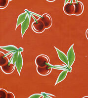 Stella Retro Red Vintage Style Cherry Oilcloth Material Fabric Tablecloth Craft