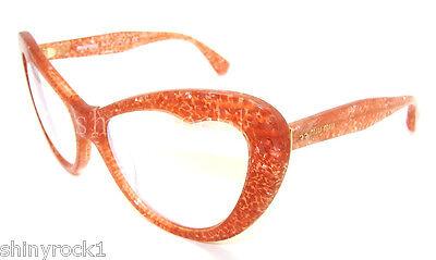 Authentic MIU MIU Orange Fantasy Glitter Sunglasses MU 04OS 04O - KA41B2 *NEW*