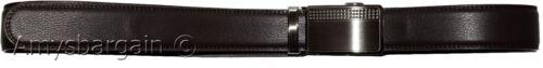 men/'s belt leather dress belt automatic sliding lock buckle leather belt for men