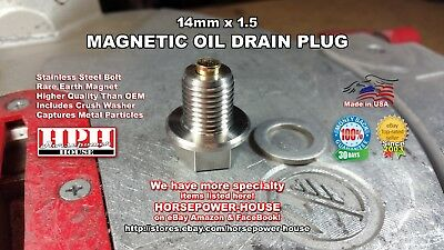 14mm Magnetic Crankcase Oil Drain Plug 04 19 Yamaha Road Star 1700 Xv17 Xv1700 Ebay