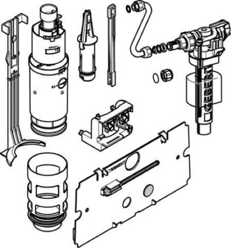 Geberit Umbau-Set 240.515.00.2 für UP-Spülkasten ab Baujahr 1988-1997