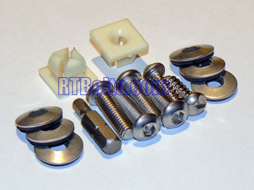 Stainless Toyota /& Lexus 4 2 4+2 Screws /& Tool Security License Bolts +