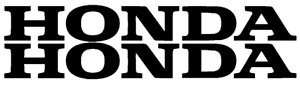 "HONDA (2 PACK) 9"" BLACK Emblem Vinyl Sticker Honda Civic Decal Motorcycle"