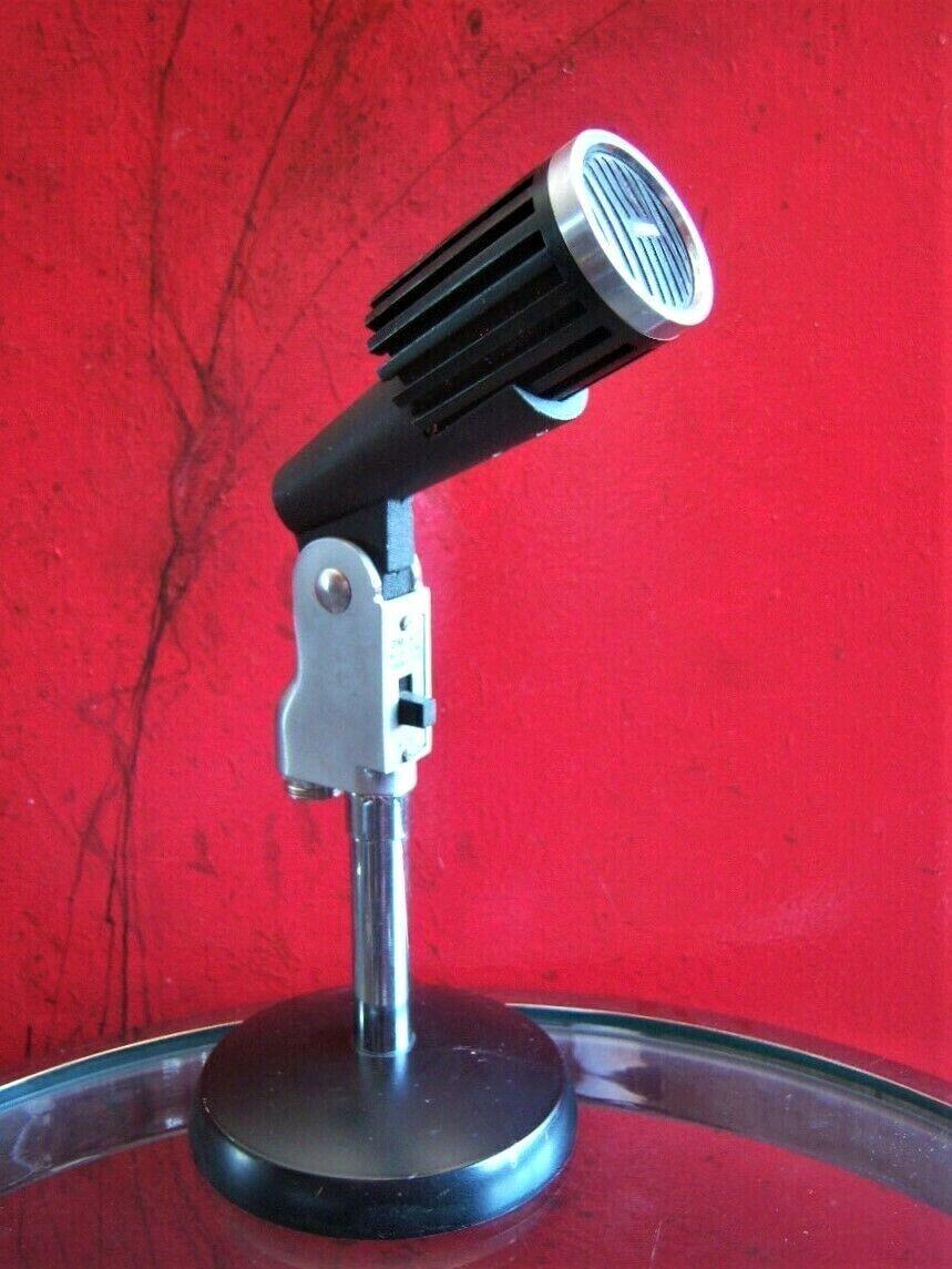 Vintage 1960's Aiwa DM-47 Dynamic microphone Aiwa Calrad old Japanese w stand