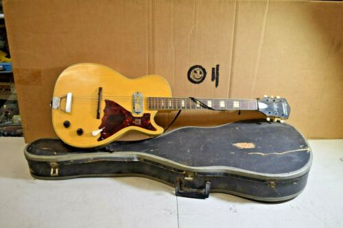 Vintage 1960's Harmony Stratotone Jupiter Guitar with case