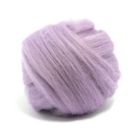 50g DYED MERINO WOOL TOP LAVENDER DREADS 64's SPINNING FELTING ROVING