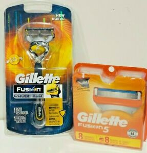 GILLETTE FUSION 5  PACK OF 8+ 1 = 9 CARTRIDGES+ 1 RAZOR