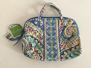 35bcb2cf7db9 Vera Bradley Capri Blue Purse Cosmetic Makeup Bag Case NWT Retired ...