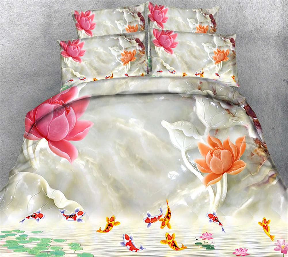 Sorrowful Dropping 3D Printing Duvet Quilt Doona Covers Pillow Case Bedding Sets