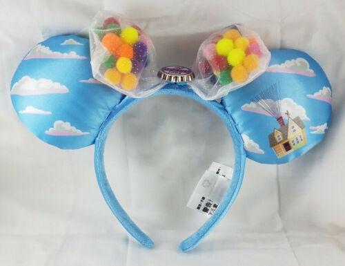 Disney Parks UP Grape Soda Cap Balloons Minnie Mouse Ears Bow Hat Headband NEW