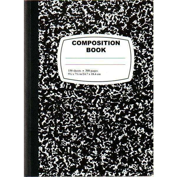 Black Composition Notebook - 150 Sheets - CASE OF 36 for sale ...