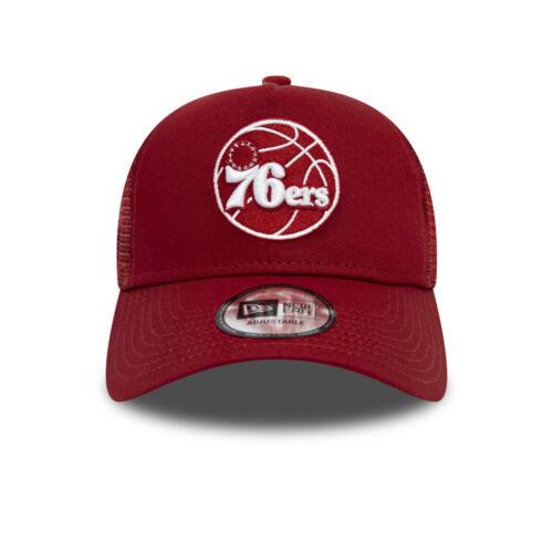 NEW ERA PHILADELPHIA 76ers BASEBALL CAP.9FORTY A FRAME ESSENTIAL TRUCKER HAT 9S2
