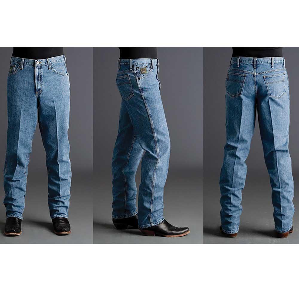 Men's Cinch Green Label Jeans Medium Wash Western Cowboy Relaxed 31x36