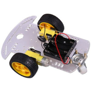 2WD-Motor-Smart-Roboter-Chassis-2-Rader-Kit-mit-Encoder-fur-Arduino-Car