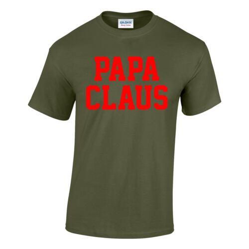 Papa Claus Mens Womens Costume Dress Top Inspired Present Unisex T-shirt