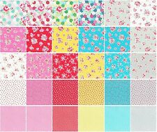 """Flower Sugar Floral Lecien Quilt  Fabric Layer Cake 42 sqs 10"""""""