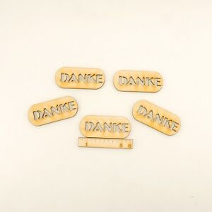 Schriftzug-034-Danke-034-Holzschilder-5-Stueck-6cm-Danksagung-Karten-Geschenke-Hochzeit