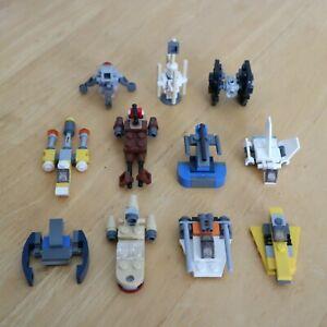 Lego-Star-Wars-Konvolut-11-Mini-Modelle-aus-Lego-Adventskalender-75056