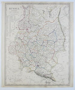 Map Of Europe 1840.Sduk Map Russia In Europe General Map 1840 Published 1844 Ebay