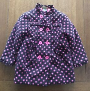 Objective Ln Outerwear Girls' Clothing (newborn-5t) Penelope Mack 4t Insulated/frilled Coat Double Breasted Polka Dot Brown Pink Sufficient Supply