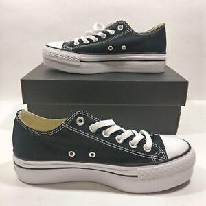 97d0302596ea Womens Converse Chuck Taylor All Star Low Black Platform Ox Shoe ...