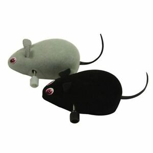 Set of 2Pet Cat Kitten Play Playing Toy SCURRYING Clockwork Walking Move Mouse