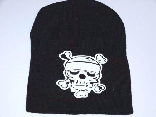 Mütze Strickmütze Beanie Cap Black Schwarz Skulls Totenkopf Rockabilly Punk NEU