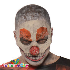 Adults Children's Horror Clown Halloween Fancy Dress Accessory Half Face Mask