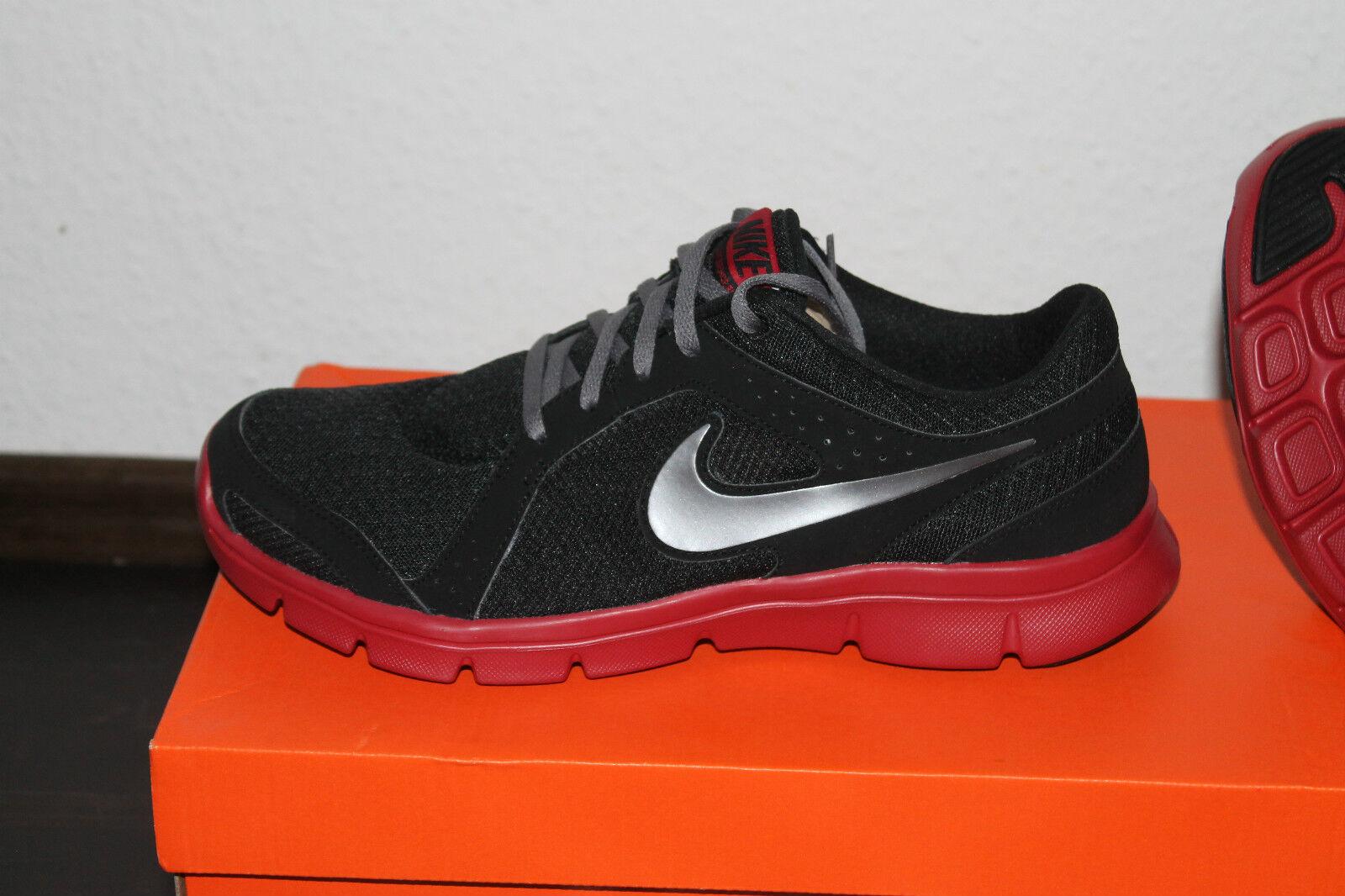 Nike Flessibile Running-uomo Training Scarpa Taglia 42,5, US 9 Nero Rosso