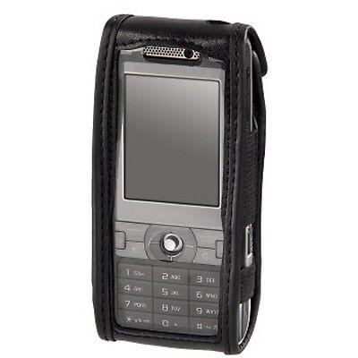 Handy Tasche für Sony Ericcon K800i K810i K790i HAMA Leder Schwarz NEU