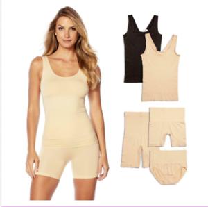 Brief Tank Yummie Seamless Wardrobe Essentials Shaper Black//White Shortie