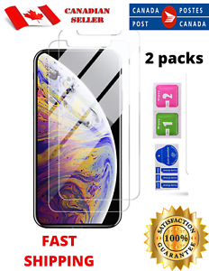 2PK-Premium-Tempered-Glass-Protection-Screen-Protector-for-iPhone-11-XR-Case