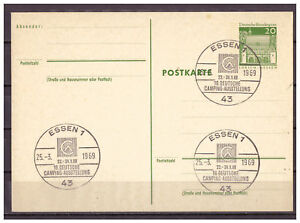 Rfa-Entier-Postal-P-92-Sst-Essen-16-Allemand-Camping-Exposition-25-03-1969