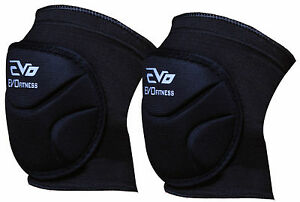 Evo-Fitness-Knee-Pads-Elasticated-Support-MMA-Knee-Guard-Volleyball-Cycling-Pair