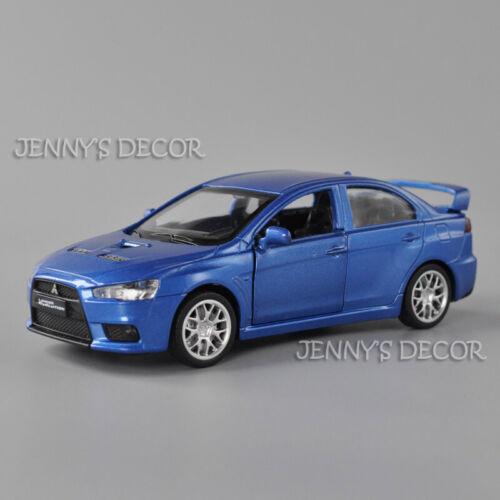 1:41 Diecast Model Mitsubishi Lancer Evolution Pull Back Toy Car Collection