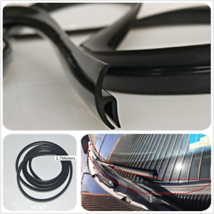 1-7M-Rubber-Seal-Strip-for-Car-Front-Windscreen-Wiper-windshield-Anti-Dust-Black