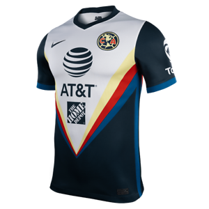 Nike Club America Df 2020 2021 Away Soccer Jersey New White Navy Blue Ebay