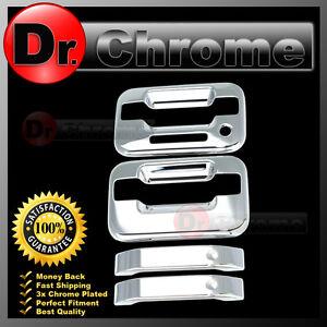04-14 Ford F150 Triple Chrome 4 Door Handle+no keypad /& no PSG keyhole Cover